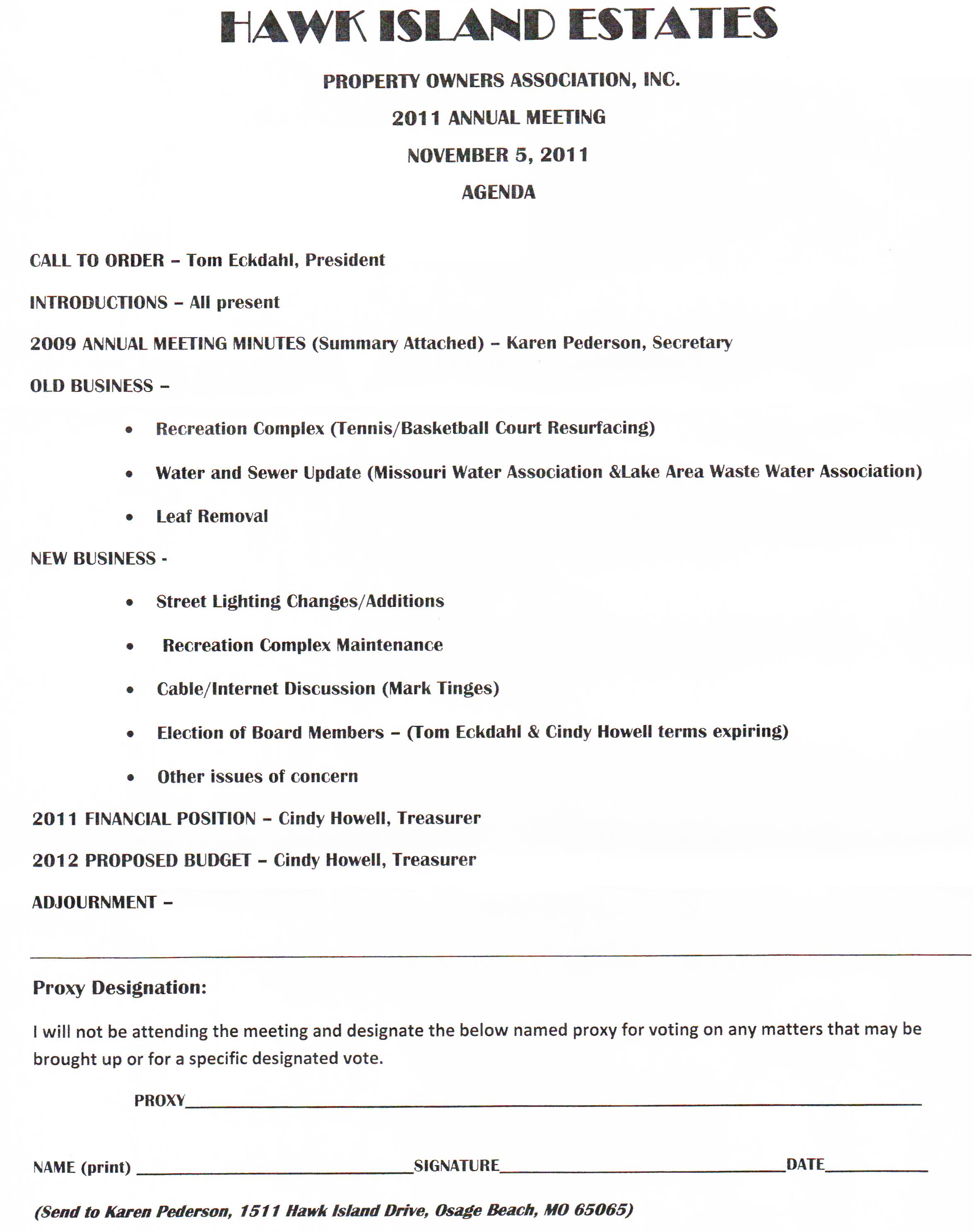 Annual privacy notice cover letter